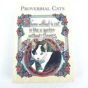 Proverbial Cats Papyrus 16 Notecards & Envelopes